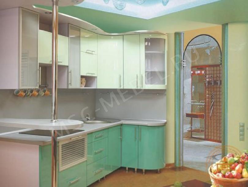 Фото Недорогая кухня «Салатовая свежесть»