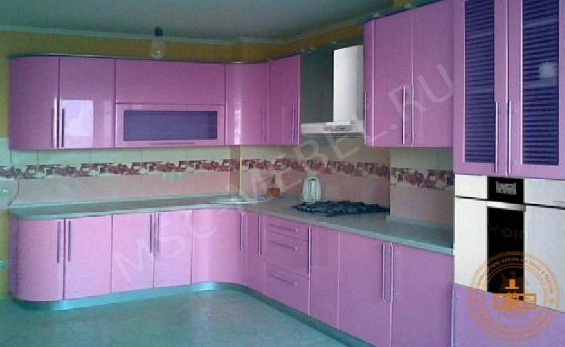 Недорогая кухня «Лиловая пастель»