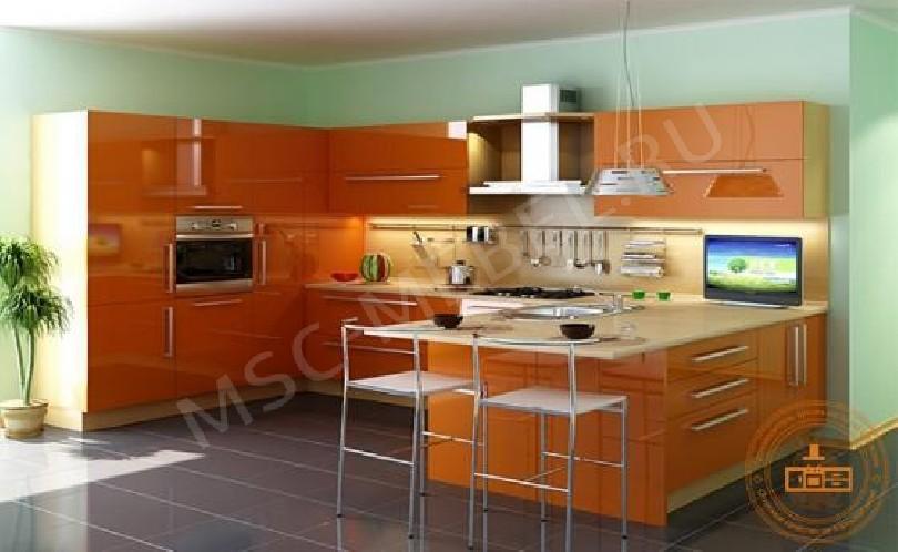 Недорогая кухня «Оранжевое настроение»