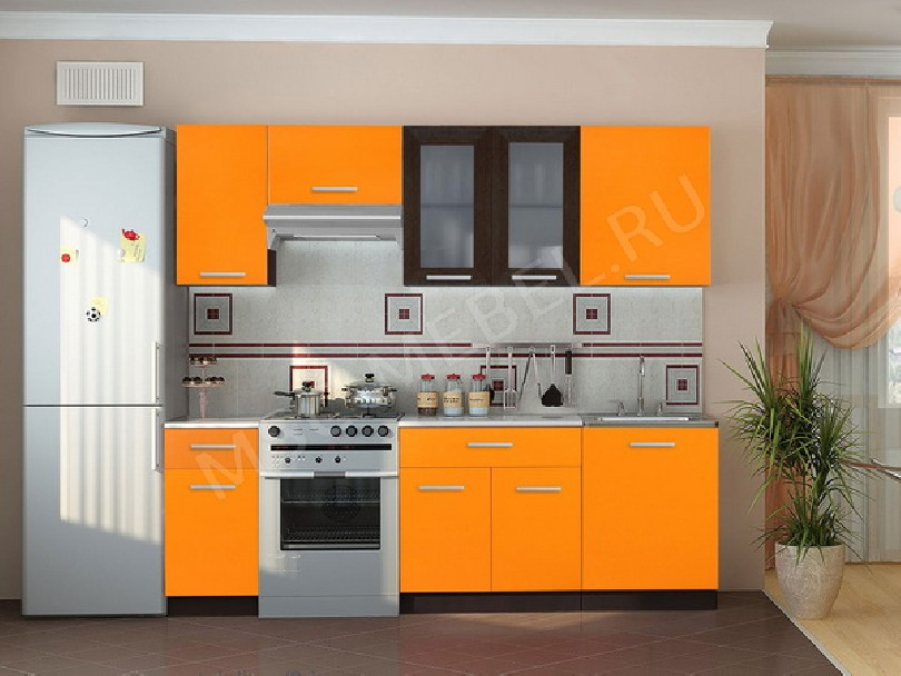 Фото Недорогая кухня «Оранж»