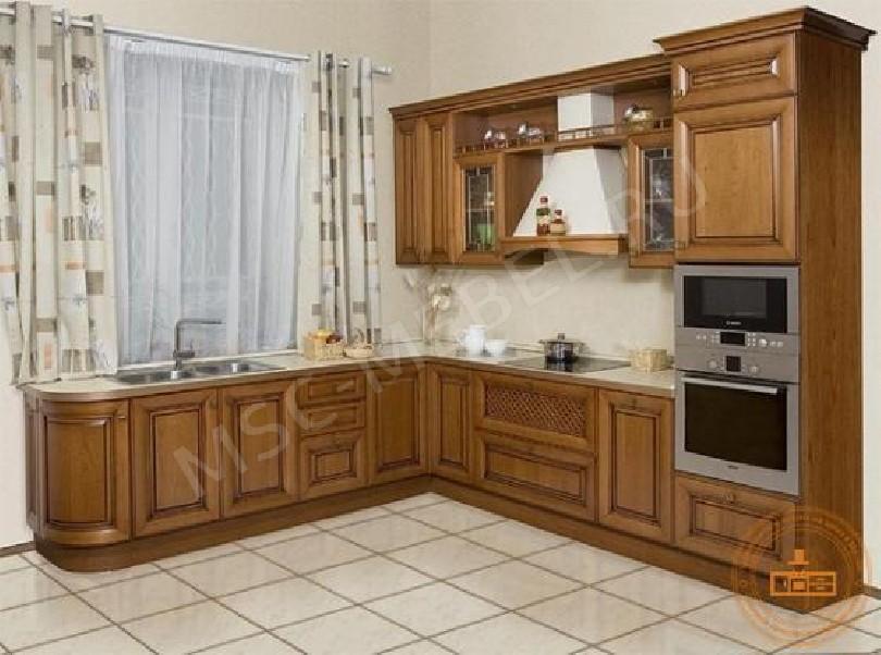 Фото Угловой кухонный гарнитур «Алоиза» в цвете коньяк