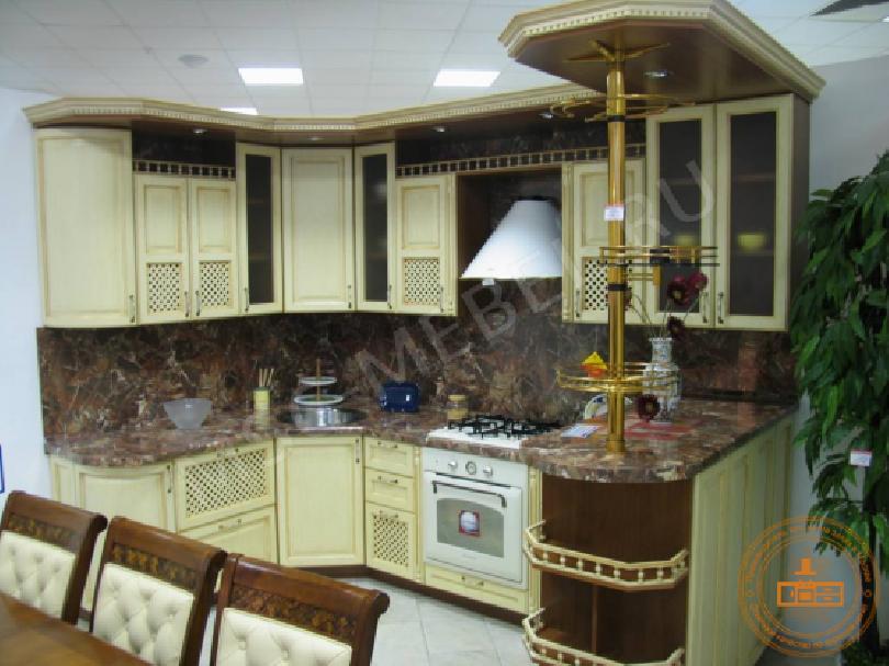 Фото Угловая кухня Ольга с барной стойкой