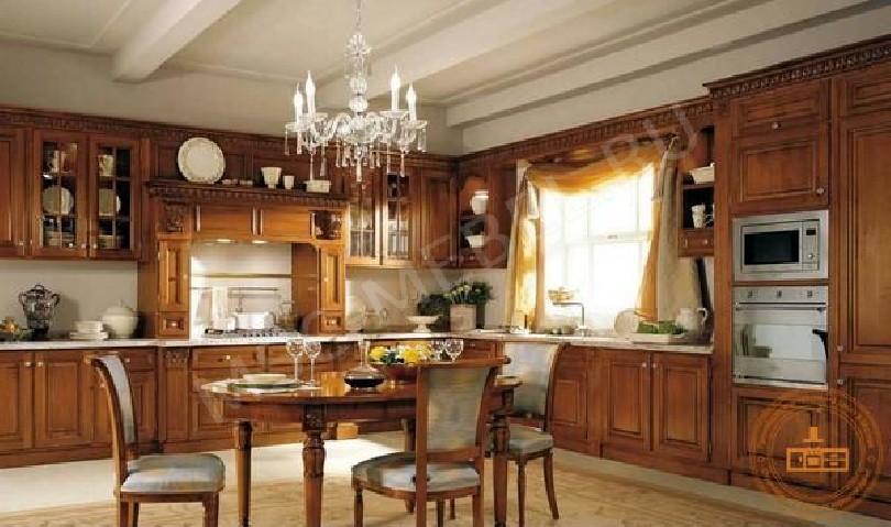 Фото Классическая кухня Ореадна под дерево
