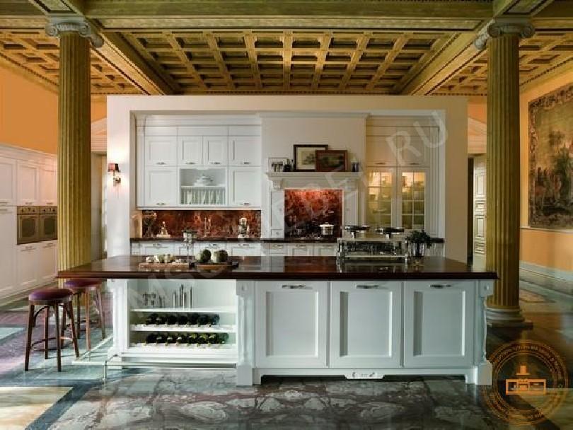 Фото Кухня из массива дерева «Техно»