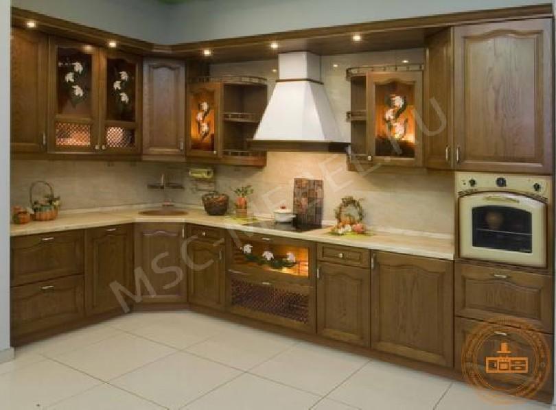 Кухня из массива дерева «Элиза (орех)»
