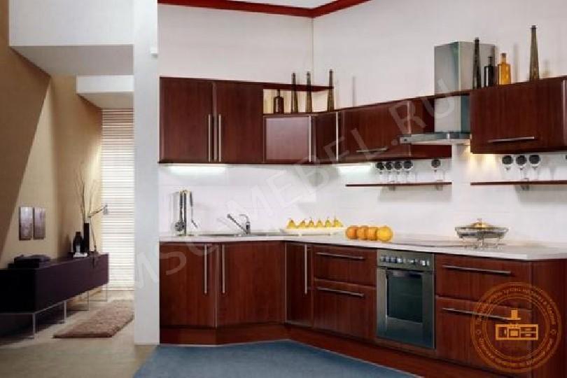 Фото Угловая кухня «Глория» из ореха
