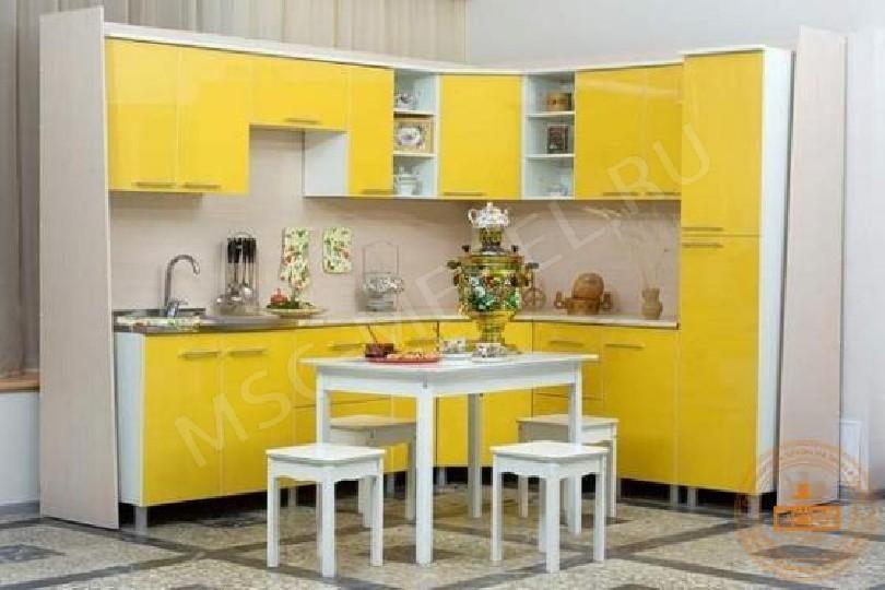 Каталог кухонь «Желтый глянец»
