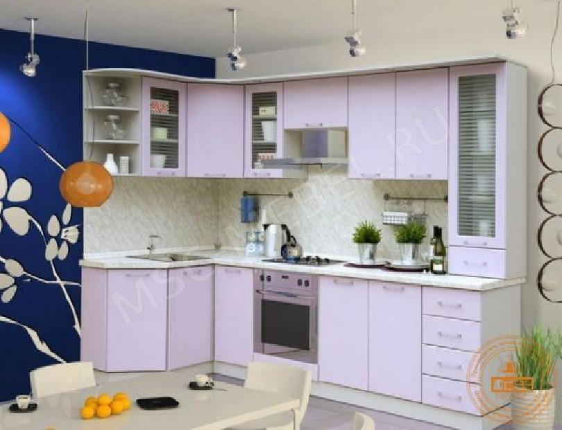 Каталог кухонь «Сирень перламутр»