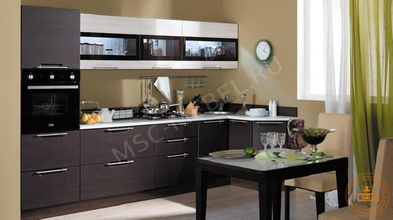 Фото Темная угловая кухня Бертония