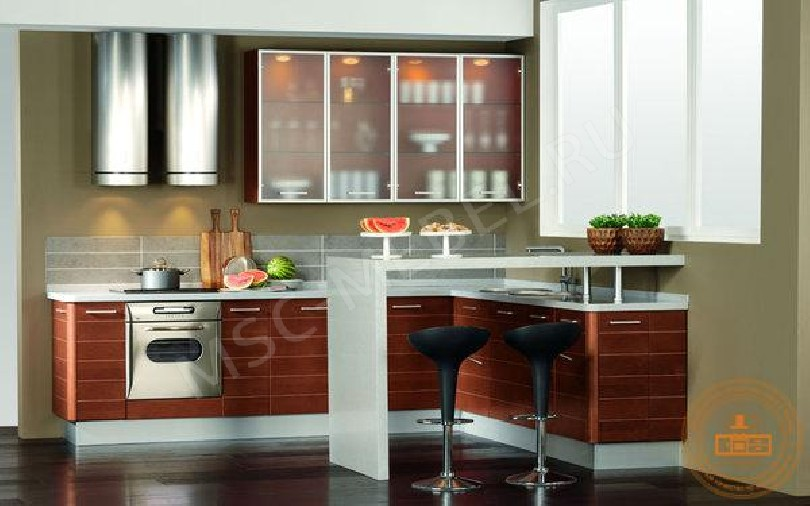 Фото Угловая кухня «Магнолия» с МДФ фасадами