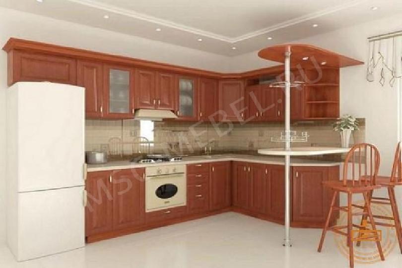 Фото Модульная угловая кухня «Глория 2» (вишня)