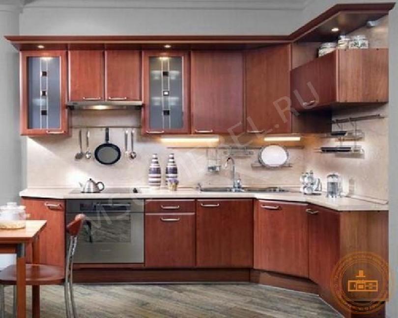 Фото Угловая кухня Глория 2 из ореха