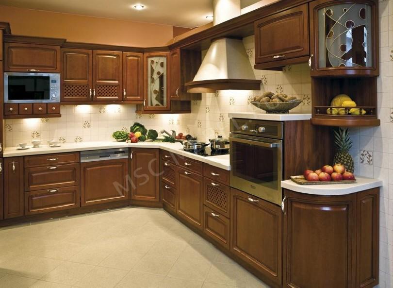 Фото Угловая кухня «Челси» из массива