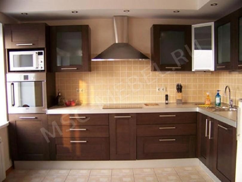 Фото Кухня из массива дерева «Мадера»