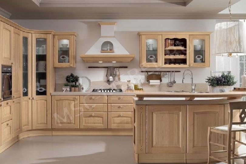 Кухня из массива дерева «Пайн»
