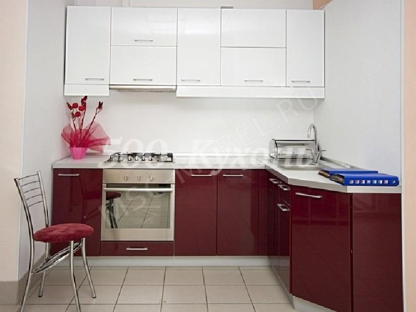 Фото Кухня из пластика «Зимняя вишня»