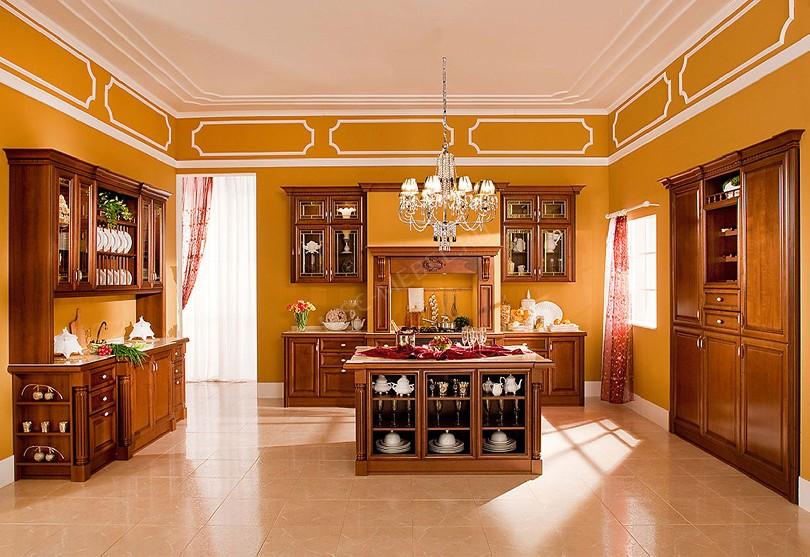 Фото Большая п-образная кухня Луизиана
