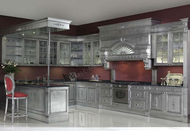 Фото Евростиль – угловая кухня с барной стойкой