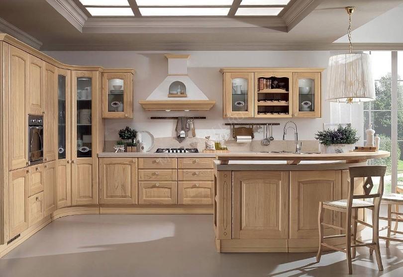 Фото Угловая кухня Браво из массива