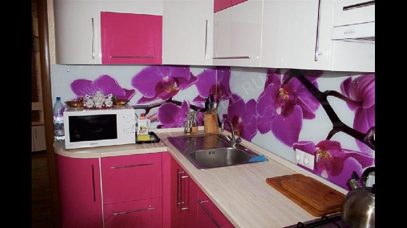 Фото Кухня Блеск (артикул 26) с фотопечатью