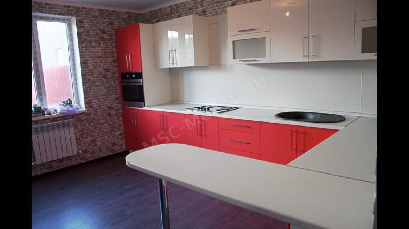 Фото П-образная кухня Блеск (артикул 27)