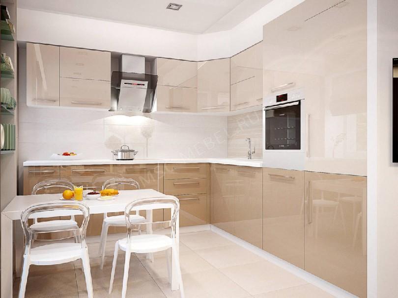 Фото Угловая кухня Блеск (артикул 33) с фасадами эмаль