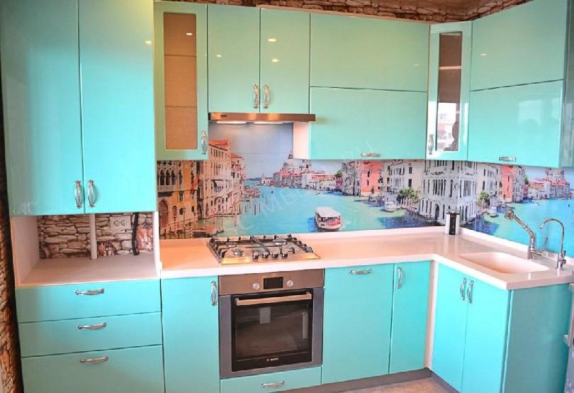 Фото Кухня Блеск (артикул 35) с фасадами эмаль