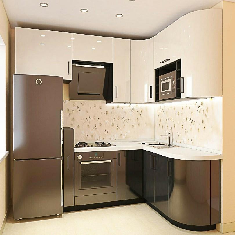 Фото Маленькая угловая кухня Блеск (артикул 6)