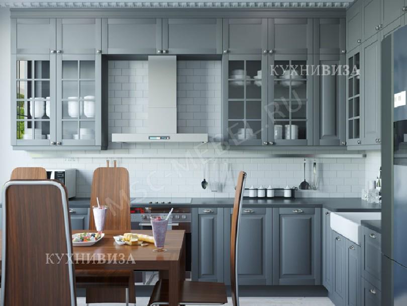 Фото Серая кухня Гриджио в стиле неоклассика