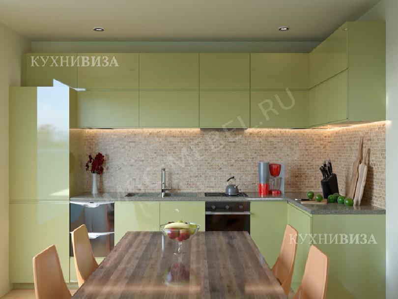 Фото Маленькая кухня Олива оливкового цвета