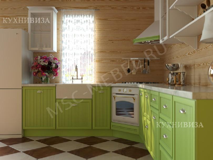 Фото Угловая кухня Кантри