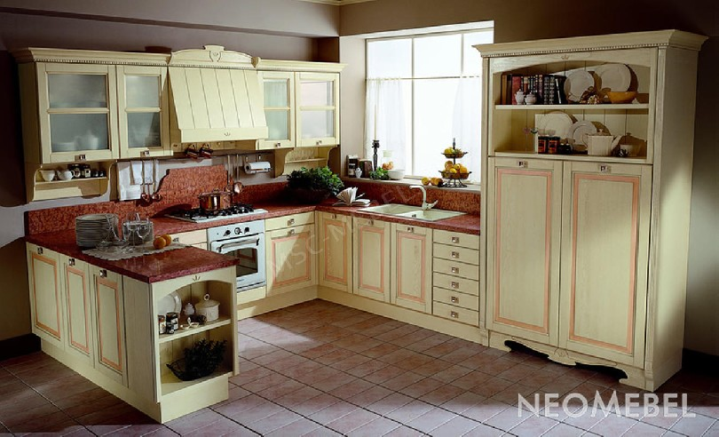 Фото Кухня Rosa Cipria из массива ясеня