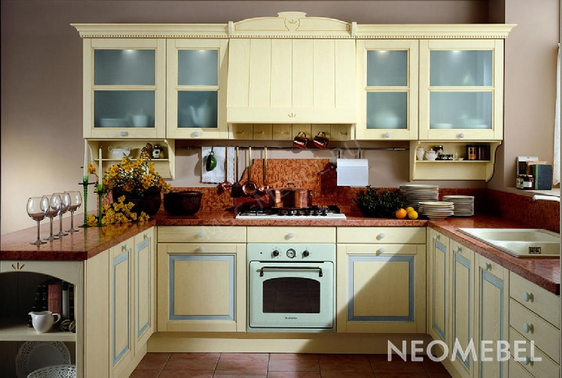 Фото Кухня «Azzuro Cielo» из массива ясеня