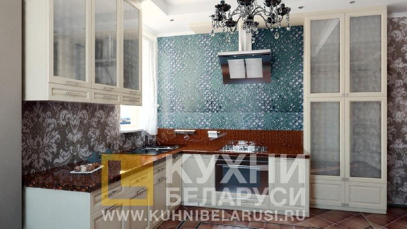 Фото Белая угловая кухня Вовере Белый