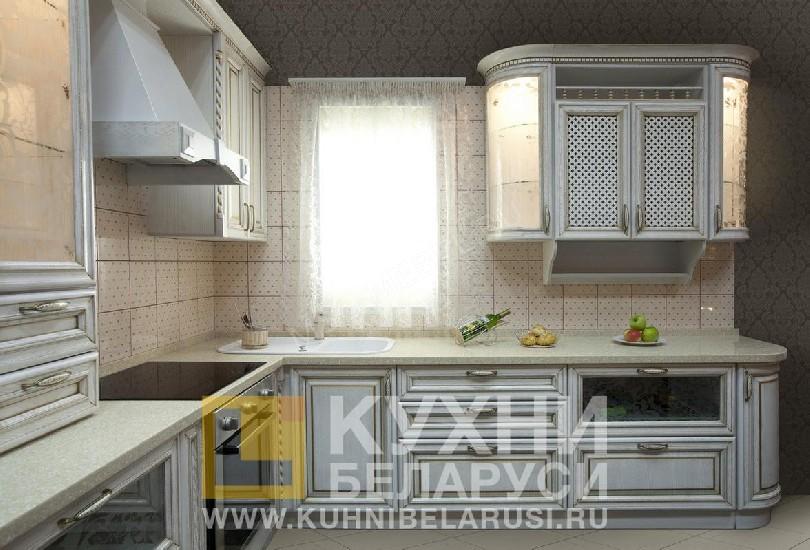 Фото Кухня Вовере Золотая Патина под старину