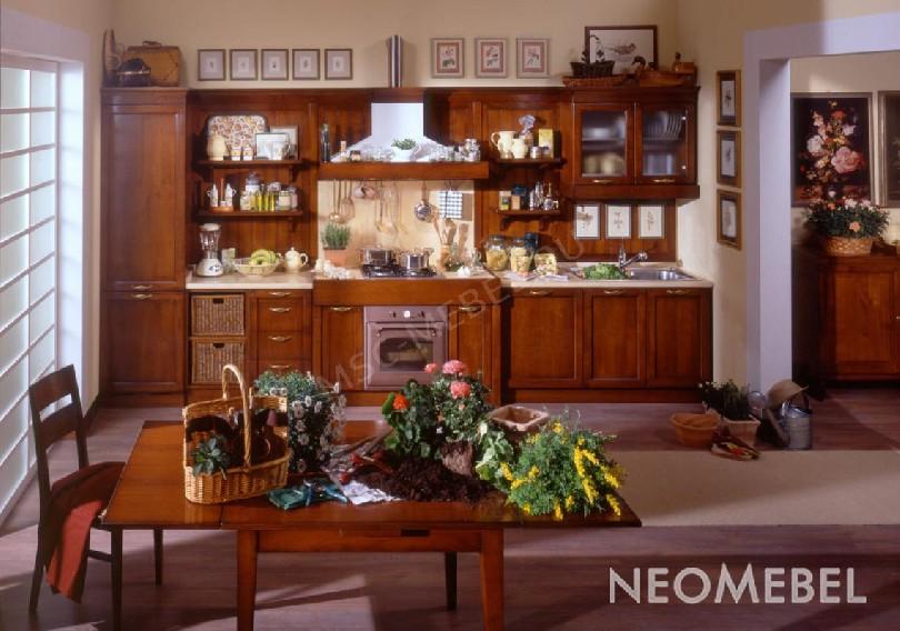 Фото Кухня Quadra из массива вишни