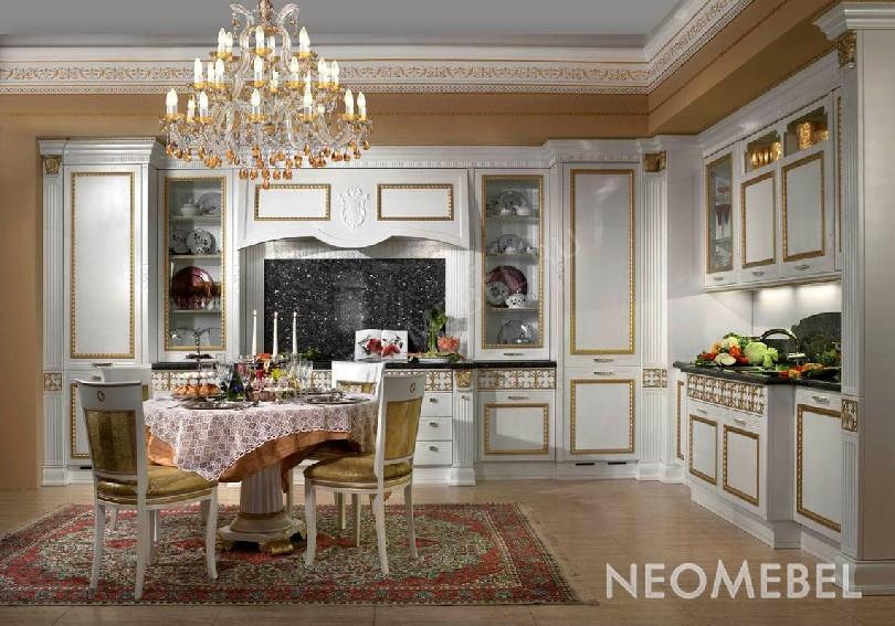 Фото Угловая кухня Prestige Rialto из массива ореха