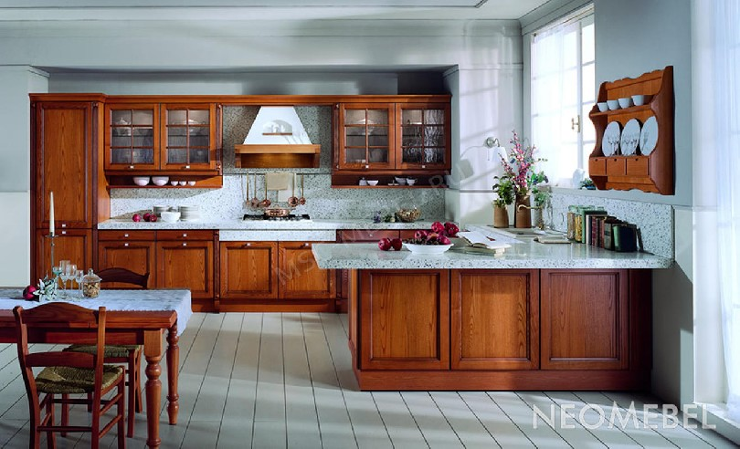 Фото Кухня Finitura Frassino в шпоне ясеня