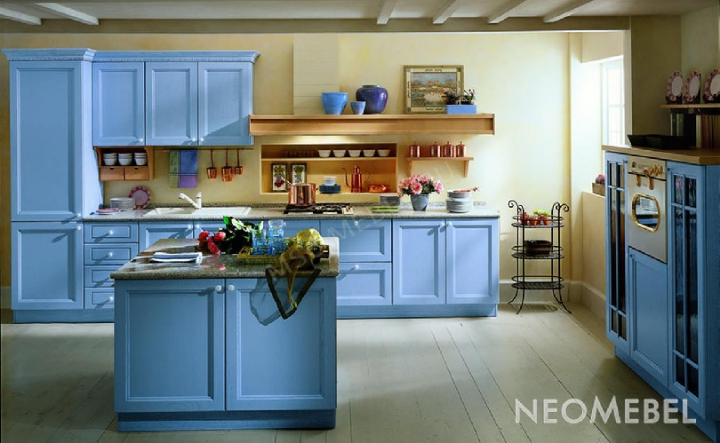 Фото Кухня «Azzuro» в стиле неоклассика