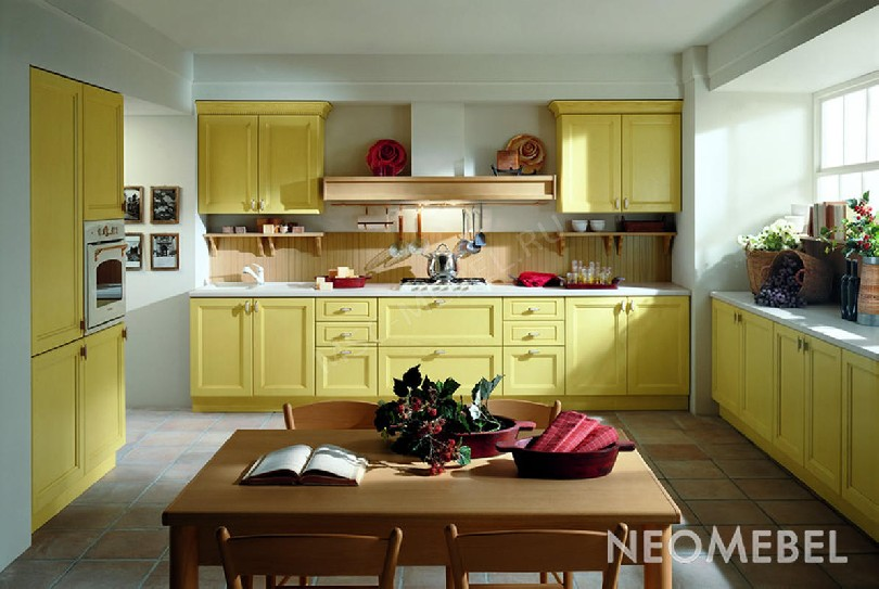Фото Кухня Giallo pastello в неоклассическом стиле