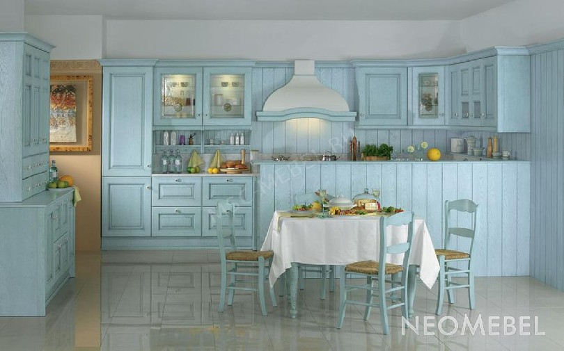 Фото Голубая кухня Селеста