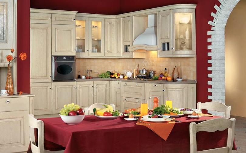Фото Бежевая кухня Селеста