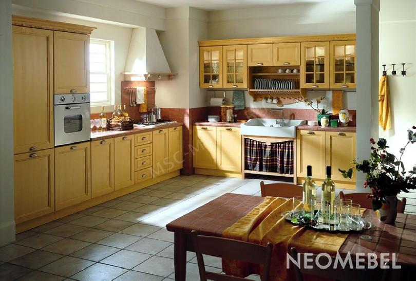 Фото Кухня Giallo mais в шпоне ясеня