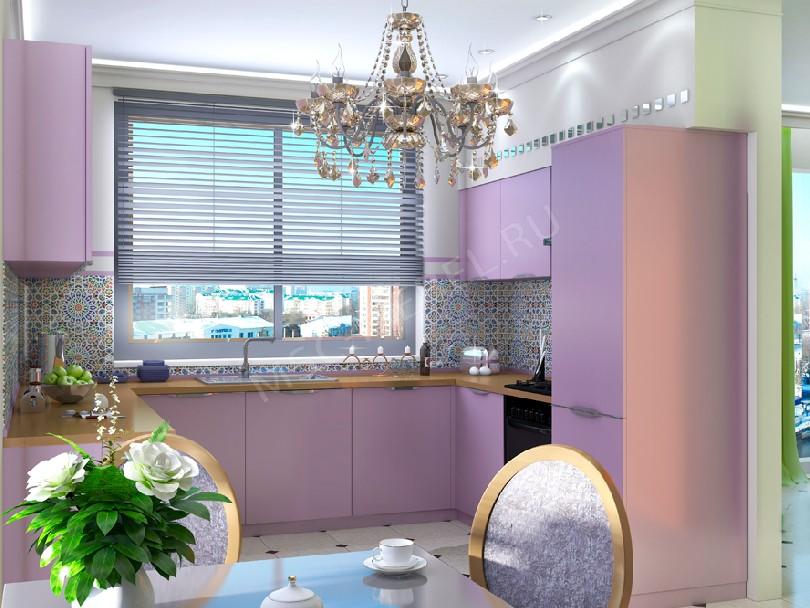 Фото Париж светло-фиолетовая