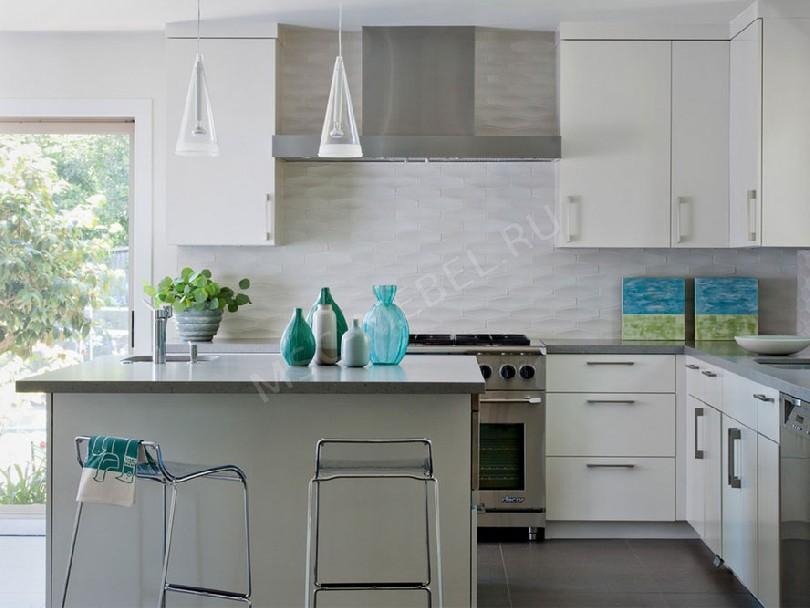 Фото Угловая кухня в скандинавском стиле