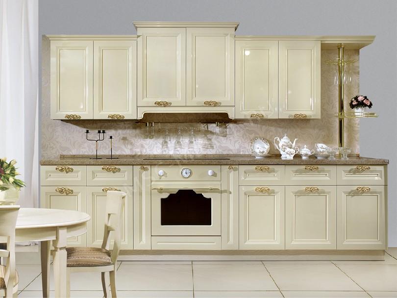 Фото Кухня Венеция бежевая глянцевая