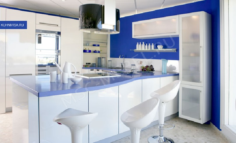 Фото Кухня Джулия с барной стойкой
