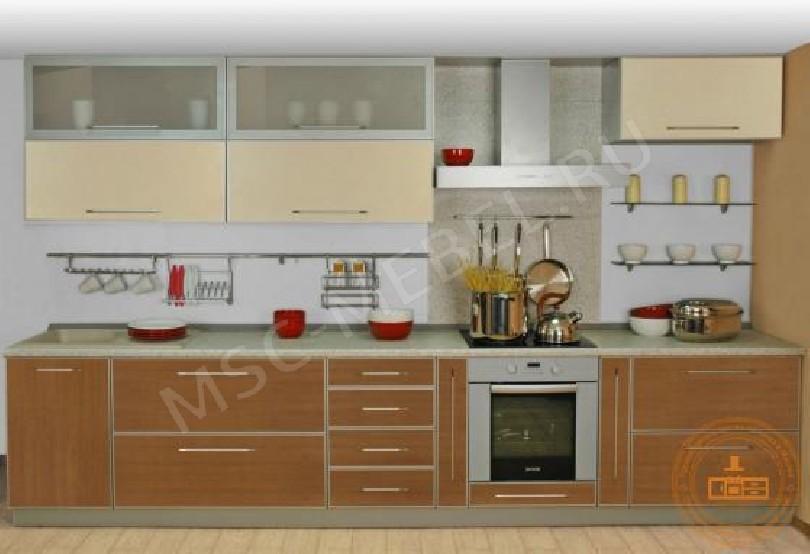 Фото Кухня из пластика «Ваниль и бук Бавария»