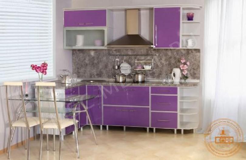 Фото Кухня из пластика «Слива»