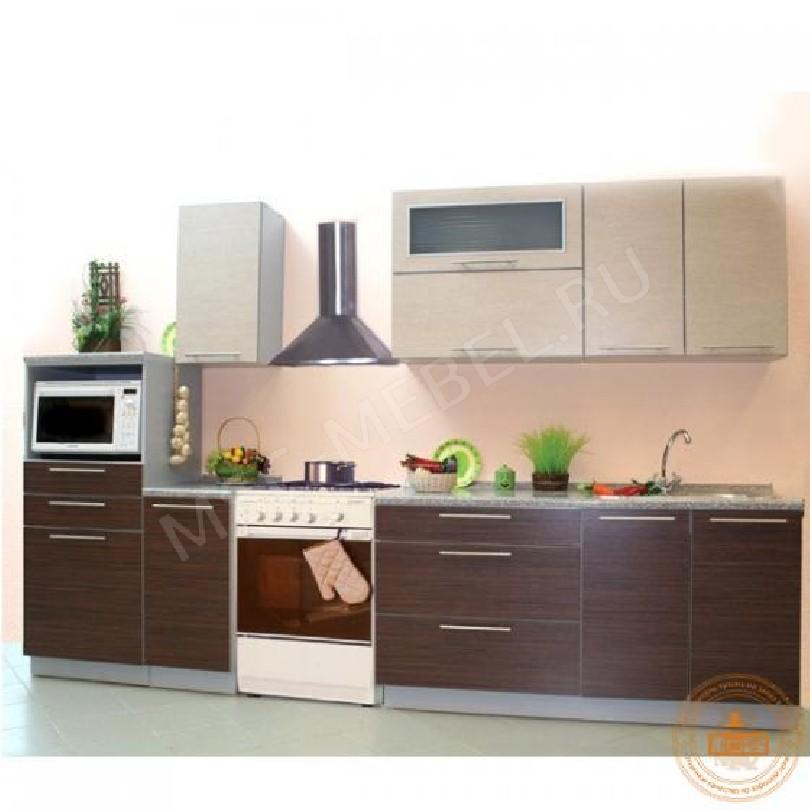 Кухня из пластика «Палисандор Сантос»